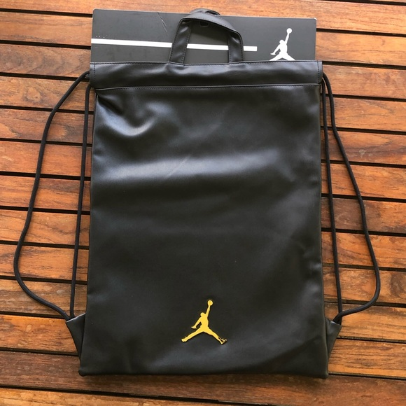 new photos e8e29 8ca88 Nike Air Jordan Jumpman leather drawstring bag